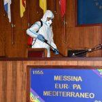 """Messina, Coronavirus: La """"Brigata Aosta"""" igienizza Palazzo Zanca [FOTOGALLERY e VIDEO]"""