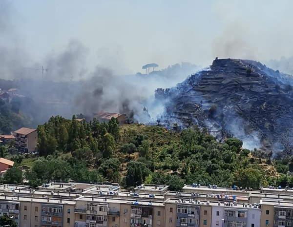 Incendio Camaro Messina