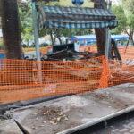 Messina, iniziata la demolizione dei chioschi irregolari a Villa Mazzini [FOTO]